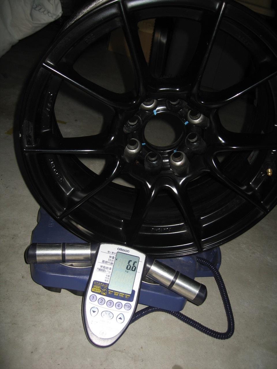 【軽量化】重さ測定 ワイトレ&ホイール