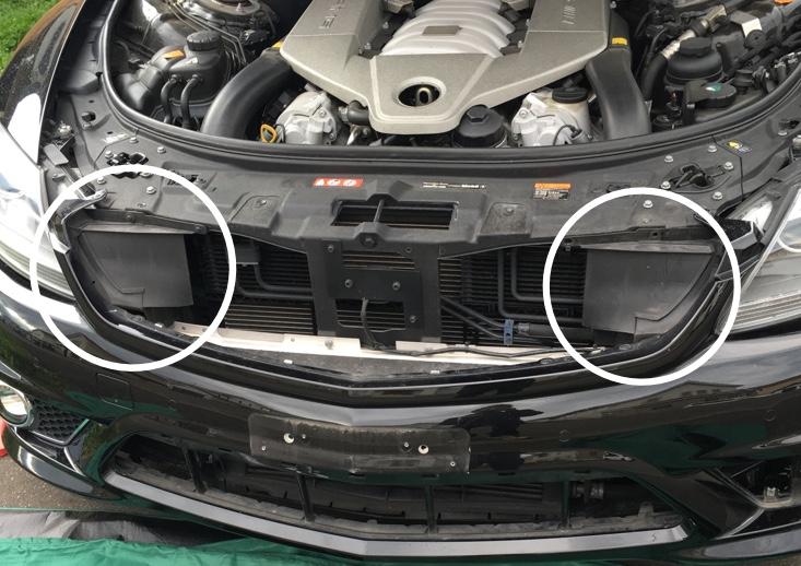 W216 CL63 バンパーの外し方
