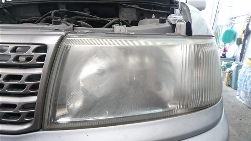 ヘッドライト汚れとり&ガラス系コーティング