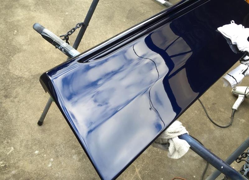 モデリスタ サイドスカート 塗装後の肌調整