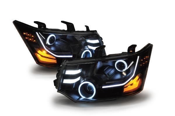 フルブラックとシルバー&ブラック!デリカD:5カスタムヘッドライト2種のご紹介!