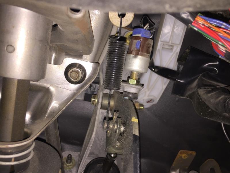 ブレーキランプのスイッチ位置調整