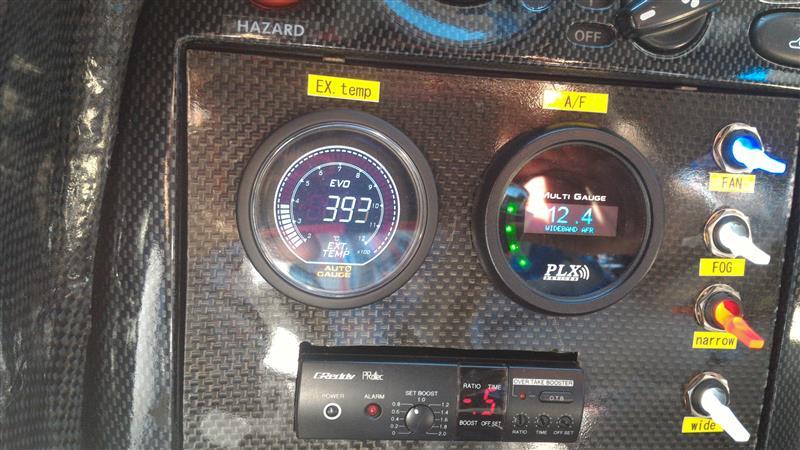 排気温度計の取り付け