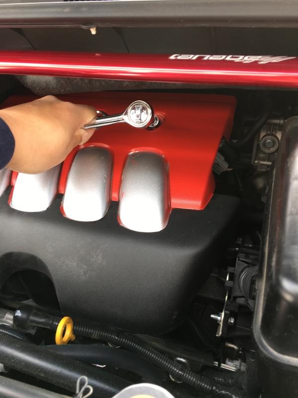 C25用エンジンカバー取付け