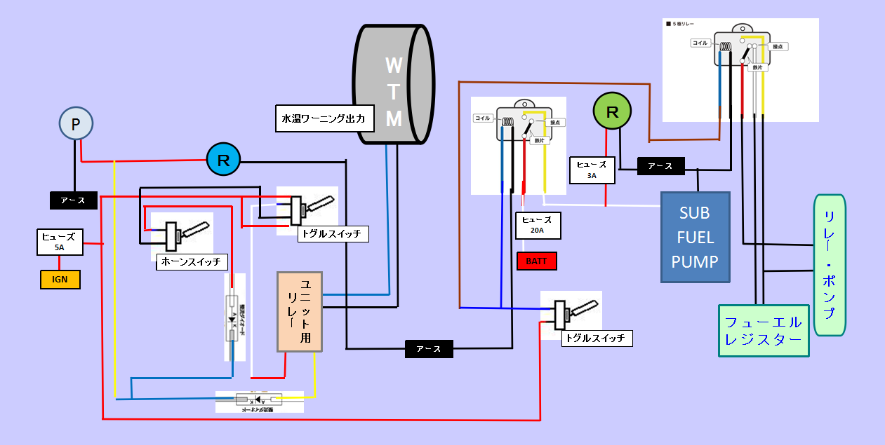 ツインポンプ配線変更、レジスター短絡