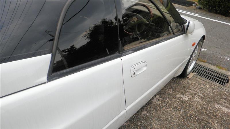 運転席ドア段差修正