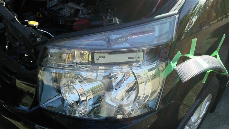 ヘッドライトアッパー側 スモーク化
