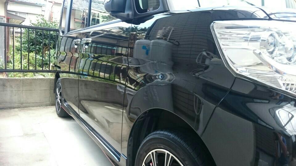 タント洗車。