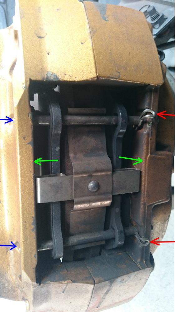 フロントブレーキ鳴き調整  残5mm