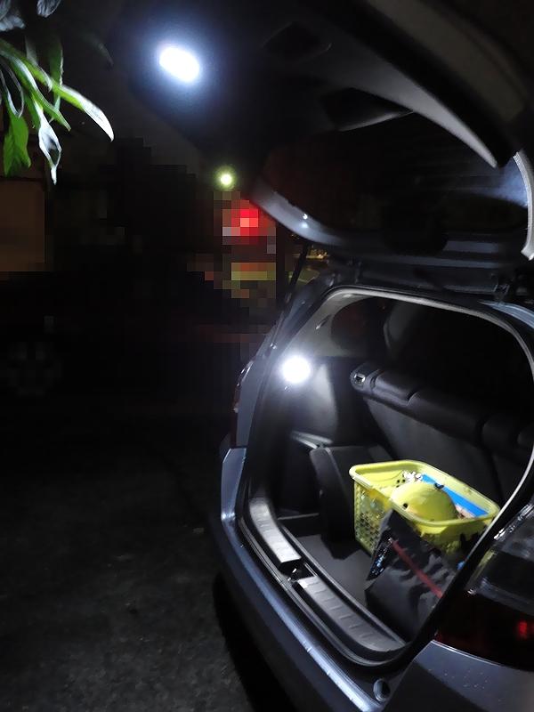 リアラゲッジ増設LEDランプ、加工&取付 3/3