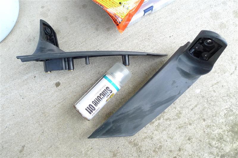 ドアミラー素地樹脂劣化部塗装②