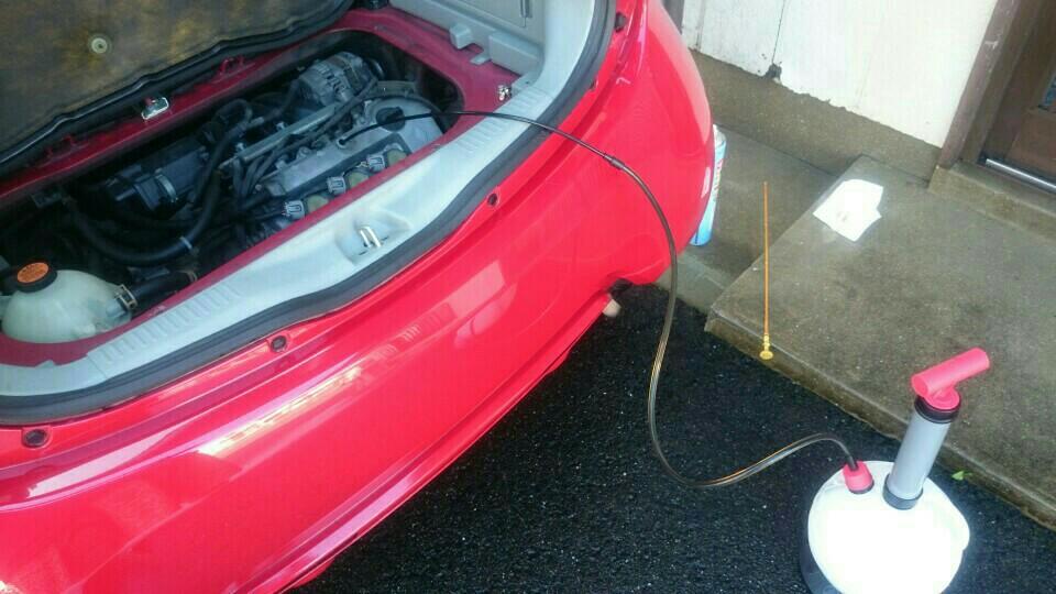 洗車からのオイル交換