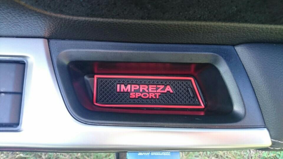 インプレッサスポーツ GP系 ロゴ入りゴムゴムマットの加工