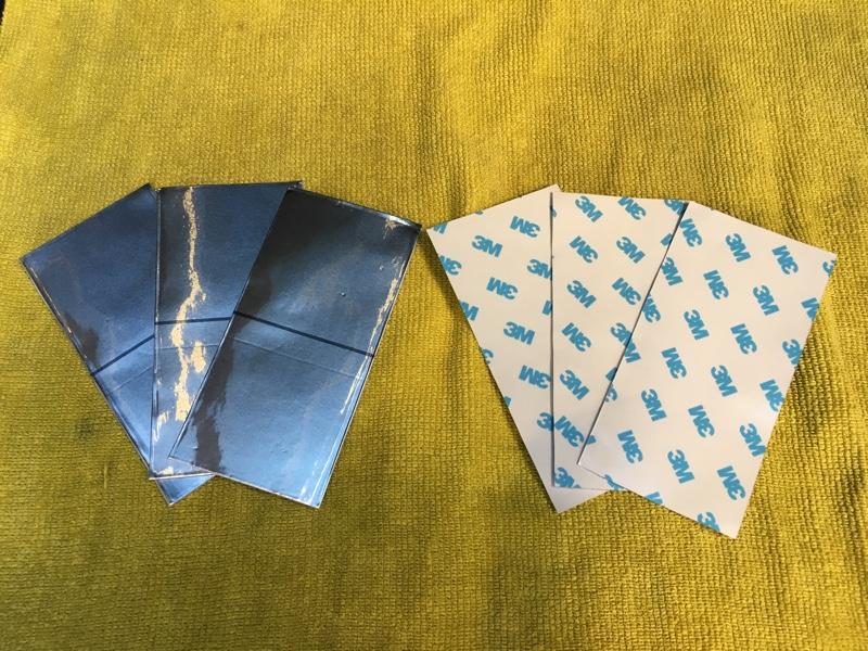 オフ会での頂き物アルミテープを施工(^_−)−☆