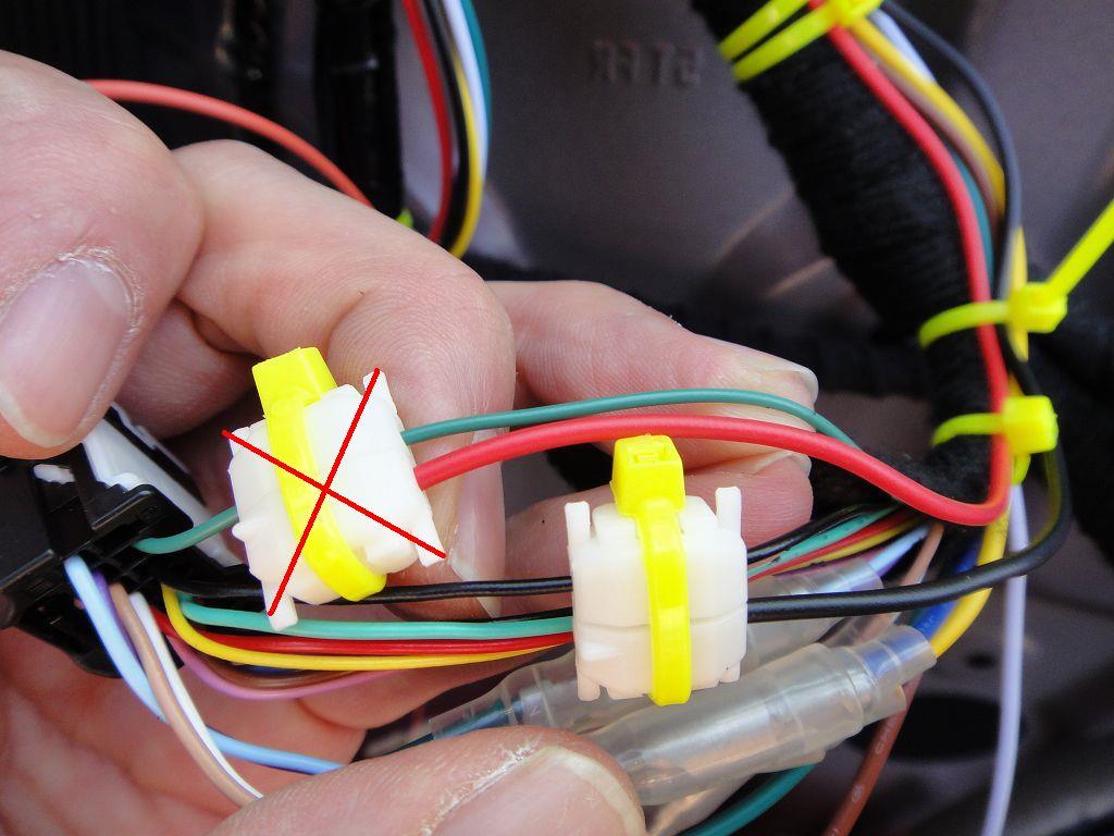 【C27】ドアロック連動ドアミラー格納装置取付②アース・ミラーオープン/クローズ信号