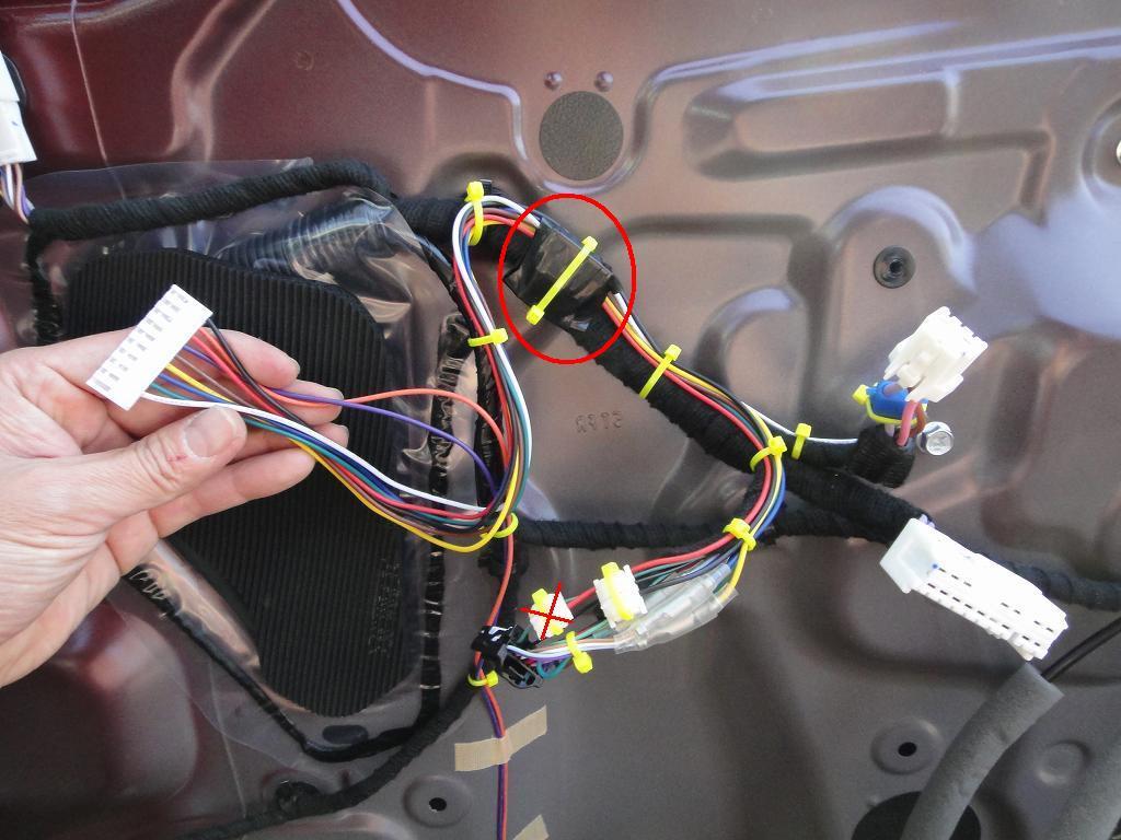 【C27】ドアロック連動ドアミラー格納装置取付③常時電源・ACC(IGN)電源