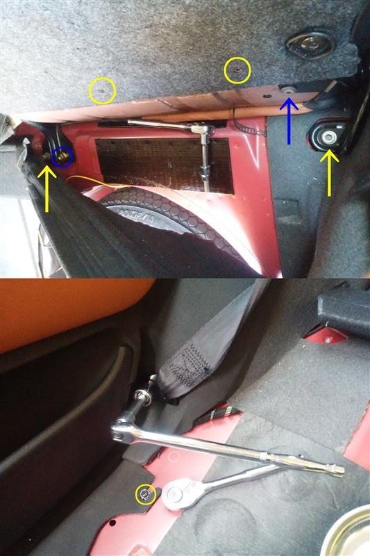 alfa 147 GTA イモラレザー リヤ シート サイド トリム 交換 取付