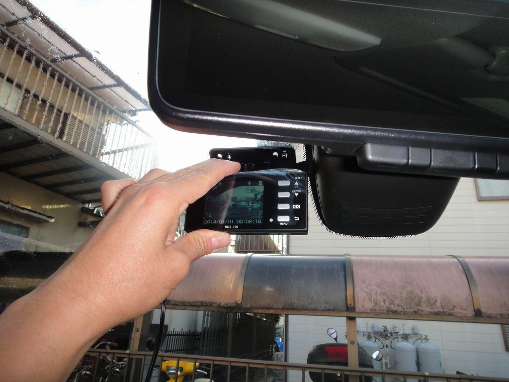 【C27】ドライブレコーダーHDR-101取付①取付位置検討