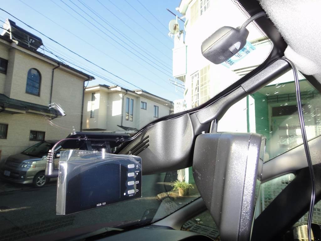 【C27】ドライブレコーダーHDR-101取付②本体取付~配線取り回し