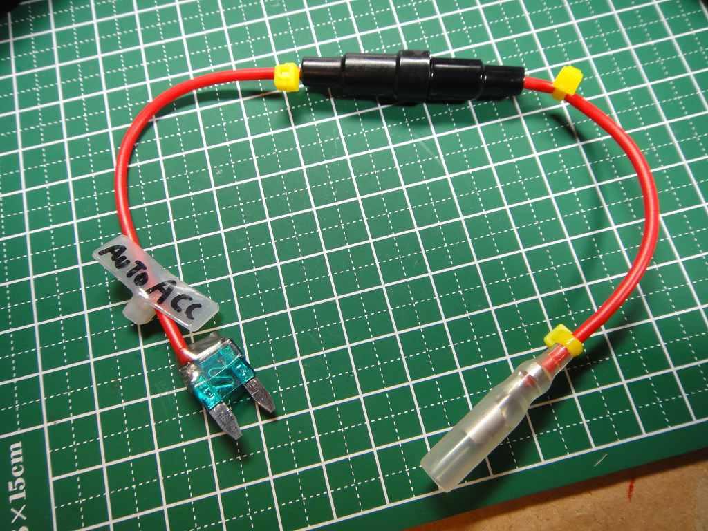 【C27】ドライブレコーダーHDR-101取付③電源配線の接続