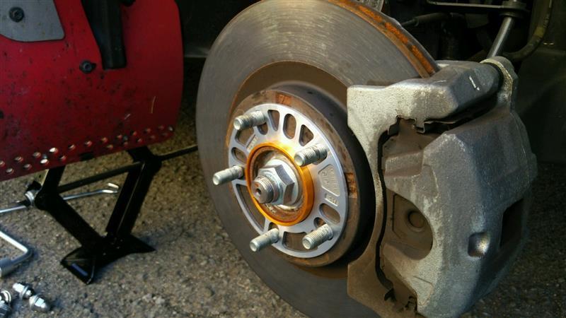 3mmスペーサー&ハブリング&冬タイヤ 装着してみた