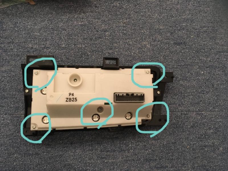 エアコンパネルの塗装とLED交換