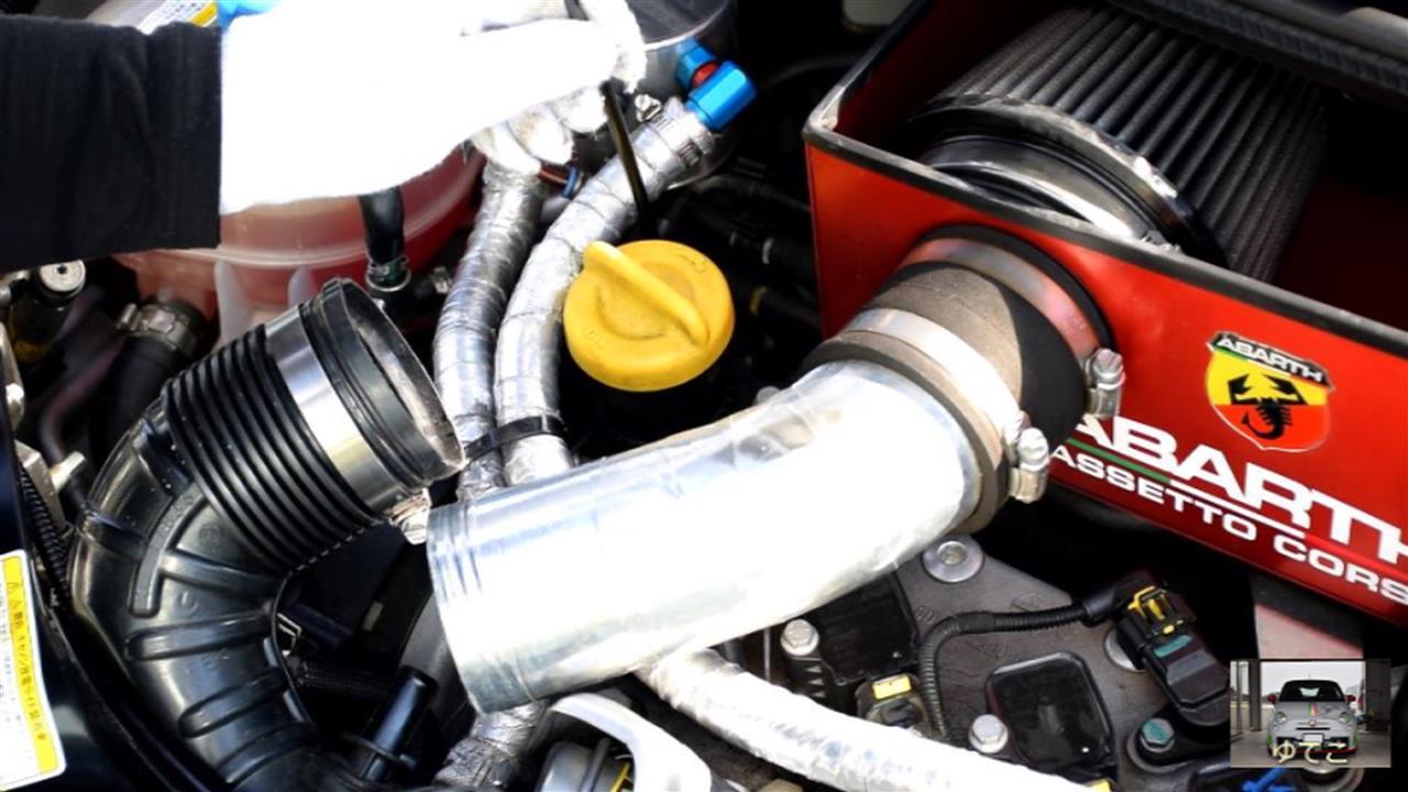 【その1】ABARTH500 エンジンオイル交換 エレメント交換 DIY