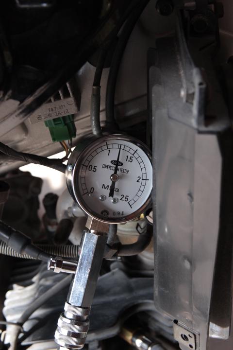 KSR110 圧縮圧力比較