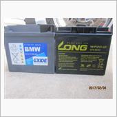 BMWR1150RT バッテリー交換