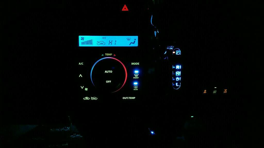 エアコンパネルスイッチLED打ち換え第2弾