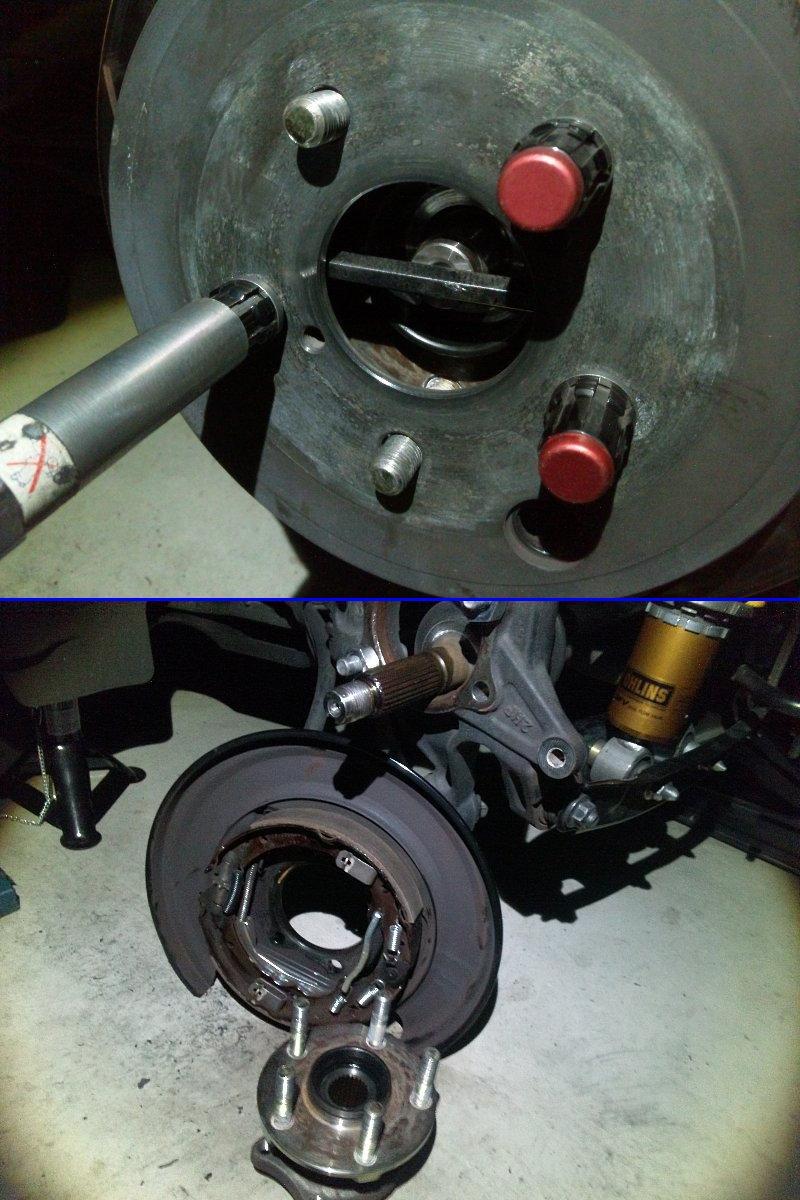 86/BRZ リア修理メンテ、ハブ交換、ギヤオイル交換、ブレーキ鳴き防止メンテ