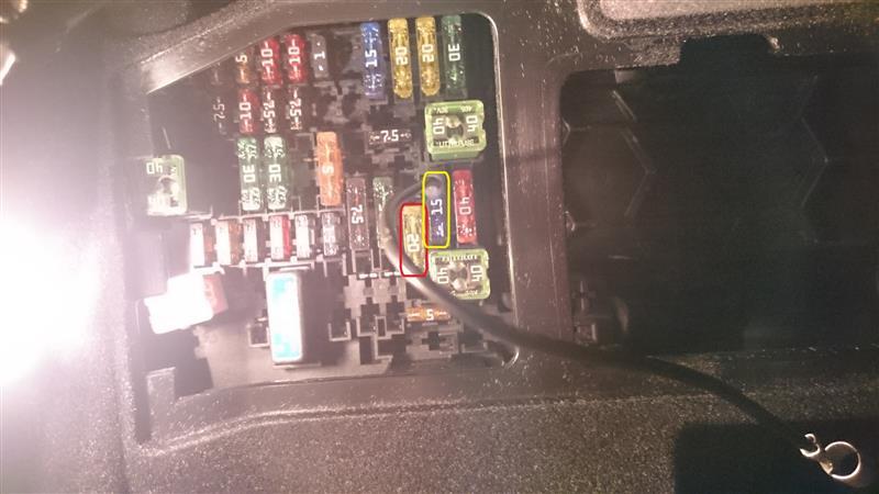 ドライブレコーダー移設、常時電源化