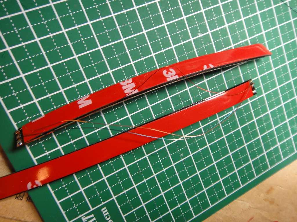 【C27】流れるテープLED取付②テープLED貼付け