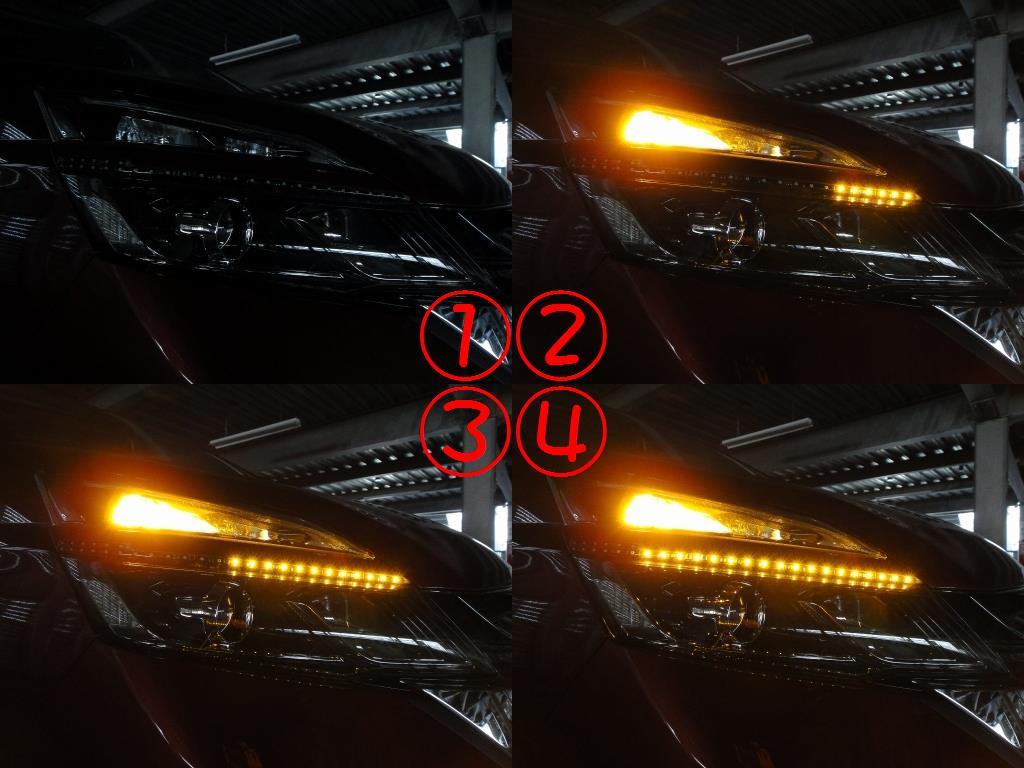 【C27】流れるテープLED取付③セレナに取付