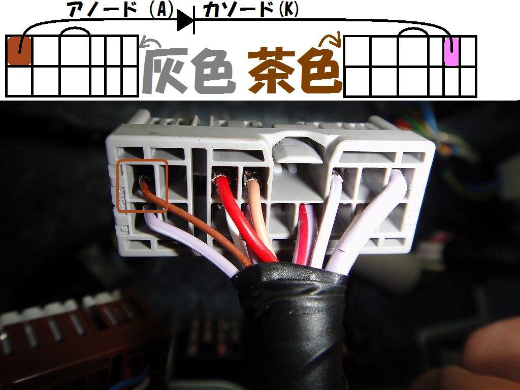 【C27】ラゲッジランプのルームランプ連動化①