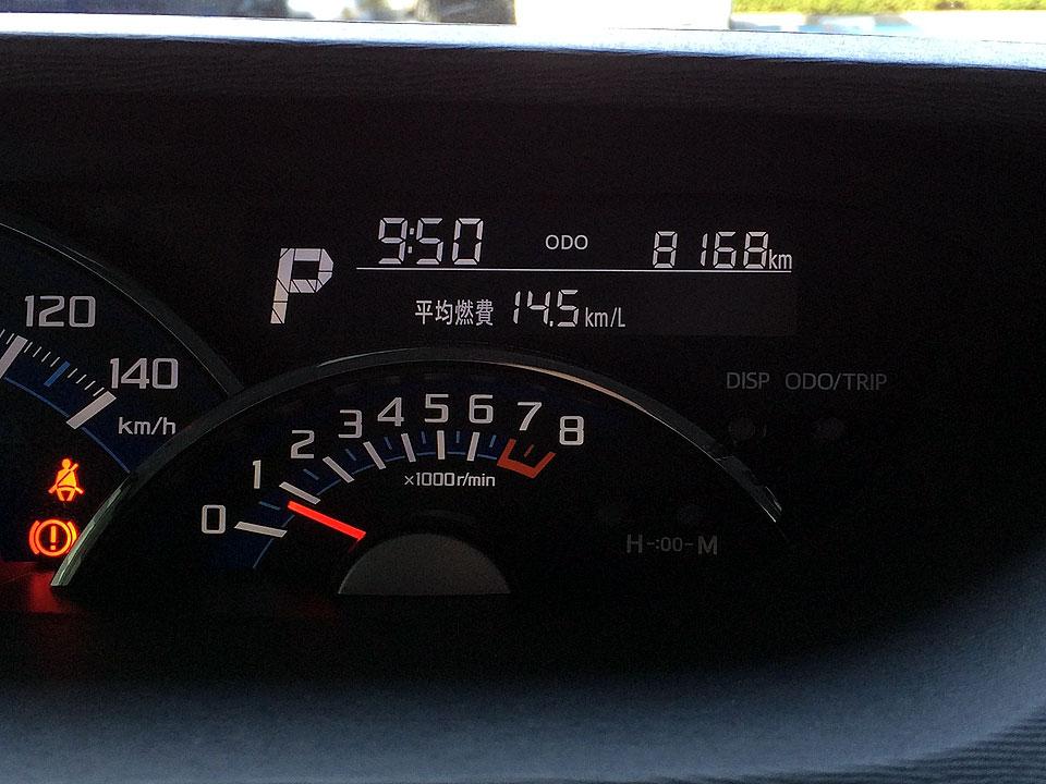 前回(昨年の12ヵ月点検)から4041.7㎞走ってる。<br /> <br /> ODOメーターは、8168㎞だ。