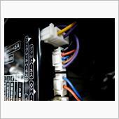 TE157を使ってIGとACCの配線を追加する場合、<br /> プッシュハーネスの配線の順番はコチラ<br /> TE156同様、上から<br /> アース・IG・ACC・エンジンスイッチ②・エンジンスイッチ①