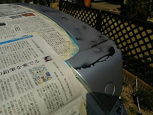 リアスポイラー塗装