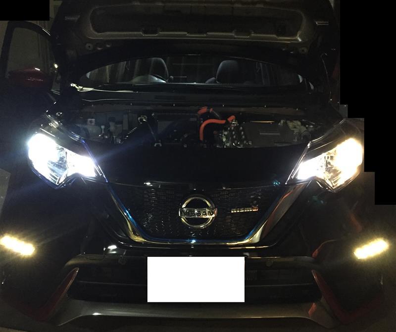 Loビームヘッドライトバルブ LEDに交換