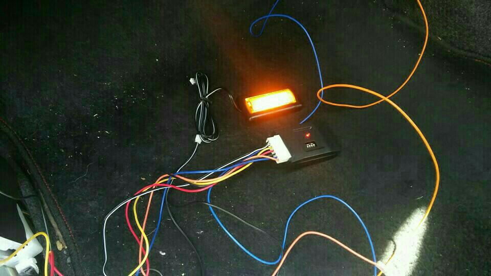 LEDフットライト取り付け。