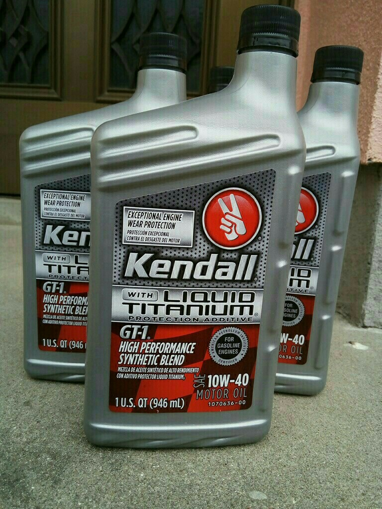 kendall GT-1 HIGH PERFORMANCE SYNTHETIC BLEND 10W-40
