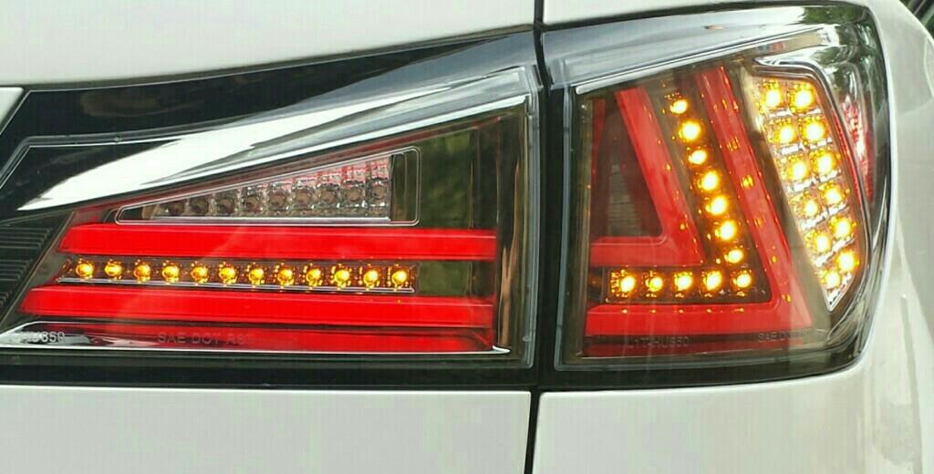 78work's LEXUS ISファイバーテール【トムヤン君仕様】 LEDテールランプ ブラッククローム