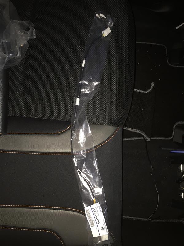 後部座席にUSB端子設置