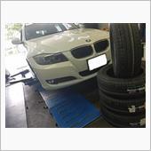 BMW:3シリーズ(E90)ランフラットタイヤ交換!!