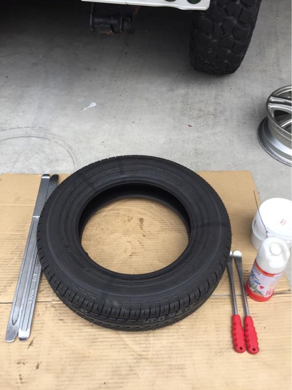 タイヤ交換 組み替え