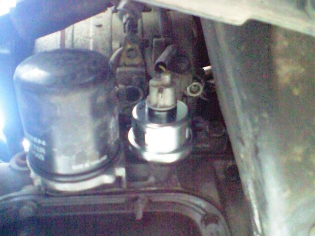 油圧センサ-の交換