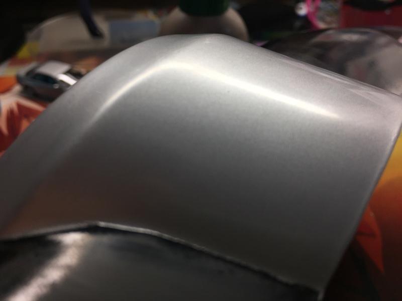 メッキのフォグカバーを塗装(下処理3)