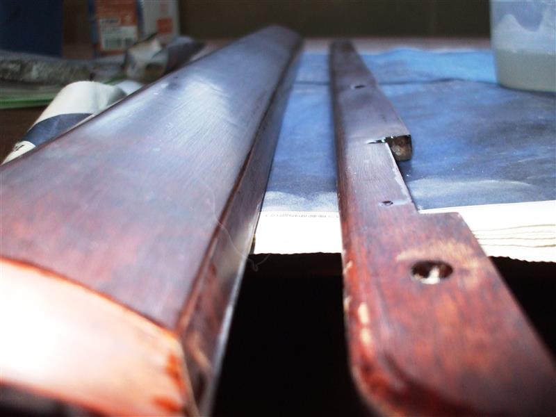右後部座席ドアウッドパネル・クリスタルレジン研磨~塗布4回目