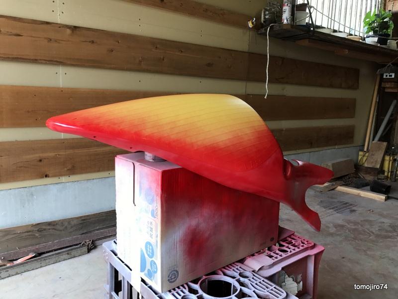 シートカウルの塗装(その2)
