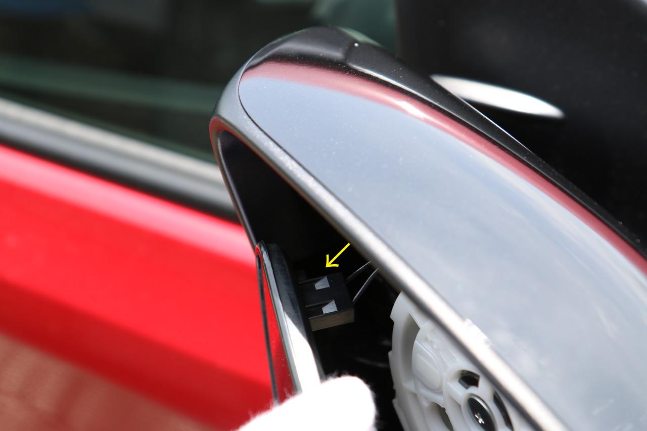 ドアミラーの分解方法 (ドアミラー / ドアミラーカバー / ドアミラーウインカー取り外し) その1